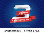 3 years anniversary background... | Shutterstock .eps vector #679551766