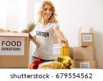 generous gorgeous woman working ... | Shutterstock . vector #679554562
