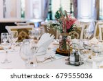 beautiful decorated wedding... | Shutterstock . vector #679555036