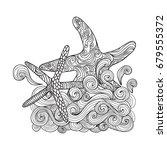 starfish sea animal coloring... | Shutterstock .eps vector #679555372