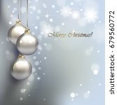 christmas background with... | Shutterstock .eps vector #679560772