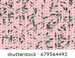 shape of leaves drawing ... | Shutterstock .eps vector #679564492
