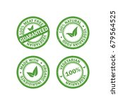 set of vegetarian food rubber... | Shutterstock .eps vector #679564525