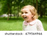 beautiful child goes in for... | Shutterstock . vector #679564966
