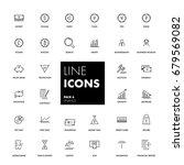 line icons set. finance pack.... | Shutterstock .eps vector #679569082