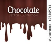 melted chocolate syrup. leaking ... | Shutterstock .eps vector #679569766