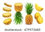 Pineapple collection. whole and ...