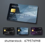 templates of credit  debit ... | Shutterstock .eps vector #679576948