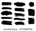 vector black paint  ink brush... | Shutterstock .eps vector #679580956