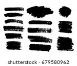 vector black paint  ink brush... | Shutterstock .eps vector #679580962