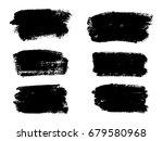 vector black paint  ink brush...   Shutterstock .eps vector #679580968