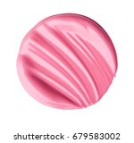 a smear of lipstick. isolated... | Shutterstock . vector #679583002