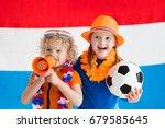 children cheering and... | Shutterstock . vector #679585645