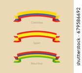 ribbon with flag of colombia ... | Shutterstock .eps vector #679586692