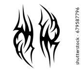 tribal tattoo art designs.... | Shutterstock .eps vector #679587796