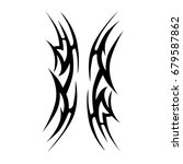 tattoo tribal vector design.... | Shutterstock .eps vector #679587862