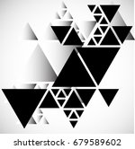 vector hipster triangle... | Shutterstock .eps vector #679589602
