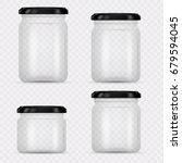set of glass jars for canning...   Shutterstock .eps vector #679594045