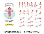 ready to use character set.... | Shutterstock .eps vector #679597942