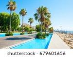 beautiful sea promenade with... | Shutterstock . vector #679601656