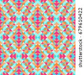 ethnic geometric pattern with... | Shutterstock .eps vector #679610422