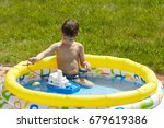 the kid is playing in the... | Shutterstock . vector #679619386