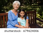 portrait of senior woman with... | Shutterstock . vector #679624006