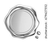 3d metal wax seal on white... | Shutterstock . vector #679627552