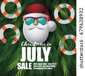 christmas in july marketing... | Shutterstock .eps vector #679628932