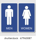 restroom signs illustration | Shutterstock .eps vector #67963087