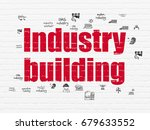 manufacuring concept  painted...   Shutterstock . vector #679633552