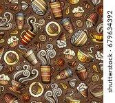 cartoon coffee shop  cafe  tea  ... | Shutterstock .eps vector #679634392