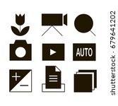 set photographies icons  symbols