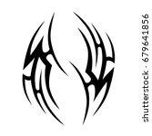 tribal tattoo art designs.... | Shutterstock .eps vector #679641856