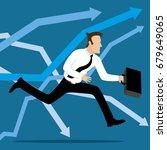 running business man. | Shutterstock .eps vector #679649065