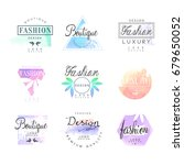 fashion luxury boutique set for ... | Shutterstock .eps vector #679650052