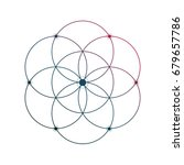 sacred geometry flower of life... | Shutterstock .eps vector #679657786
