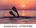 close up of scuba diver feet... | Shutterstock . vector #679661488