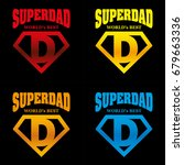 super dad hero logo supehero... | Shutterstock .eps vector #679663336