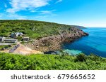 penberth is home to a small... | Shutterstock . vector #679665652