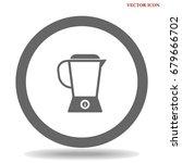 blender icon | Shutterstock .eps vector #679666702