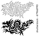 asian tattoo dragon | Shutterstock . vector #67966990
