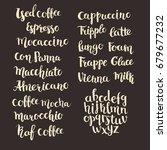 coffee shop menu. hand written... | Shutterstock .eps vector #679677232