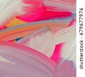 abstract brush stroke hand... | Shutterstock .eps vector #679677976