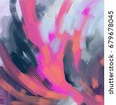 abstract brush stroke hand... | Shutterstock .eps vector #679678045