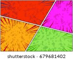 bright colorful dotted comic... | Shutterstock .eps vector #679681402