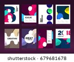 brochure cover design layout... | Shutterstock .eps vector #679681678