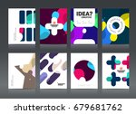 abstract business brochure... | Shutterstock .eps vector #679681762