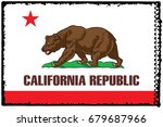 the flag of california. the... | Shutterstock . vector #679687966
