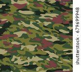 vector pattern of camouflage... | Shutterstock .eps vector #679699948